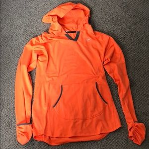 Nike Sri-fit pull over, with hood.